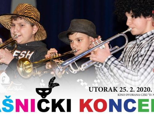 Najavljujemo: Danas Fašnički koncert OGŠ Ludbreg
