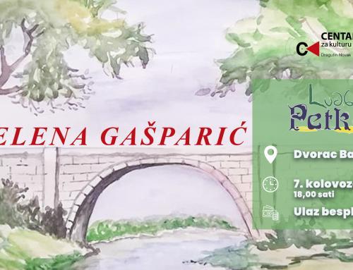 Ovog petka otvorenje izložbe Elene Gašparić