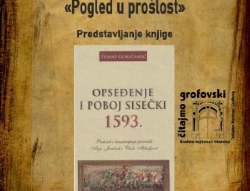 """Najava: Predstavljanje knjige u sklopu programa """"Čitajmo grofovski"""""""