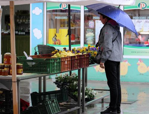 Kišna srijeda, slabija potražnja na ludbreškoj tržnici