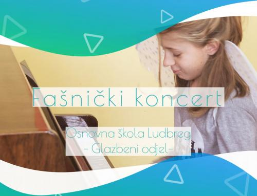 Pogledajte i poslušajte 'Fašnički online koncert' učenika OGŠ  Ludbreg
