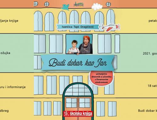 Ovog petka predstavljanje knjige 'Budi dobar kao Jan' – učiteljičin dnevnik o učeniku s Downovim sindromom