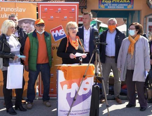 U Ludbregu kandidatkinja HNS-a za gradonačelnicu Božica Makar predstavila svoj tim